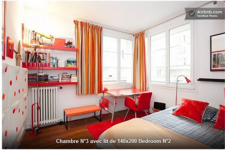 Chambre/ Bedroom N° 3 140 cm x 200 cm