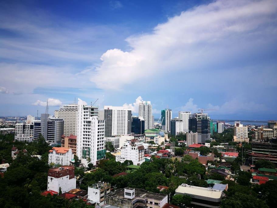Cebu's skyline seen from the  unit.