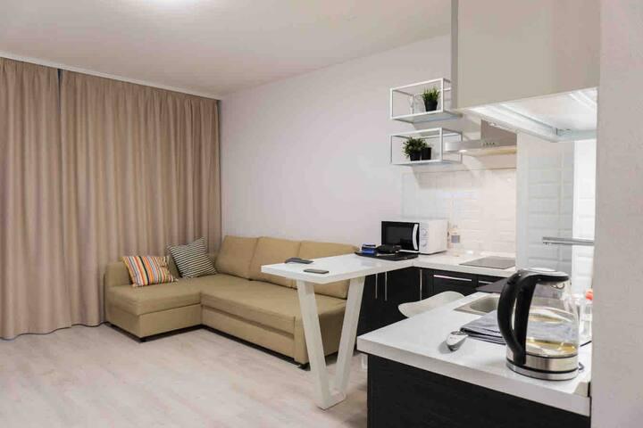Квартира-студия 31кв.м метро Лесная