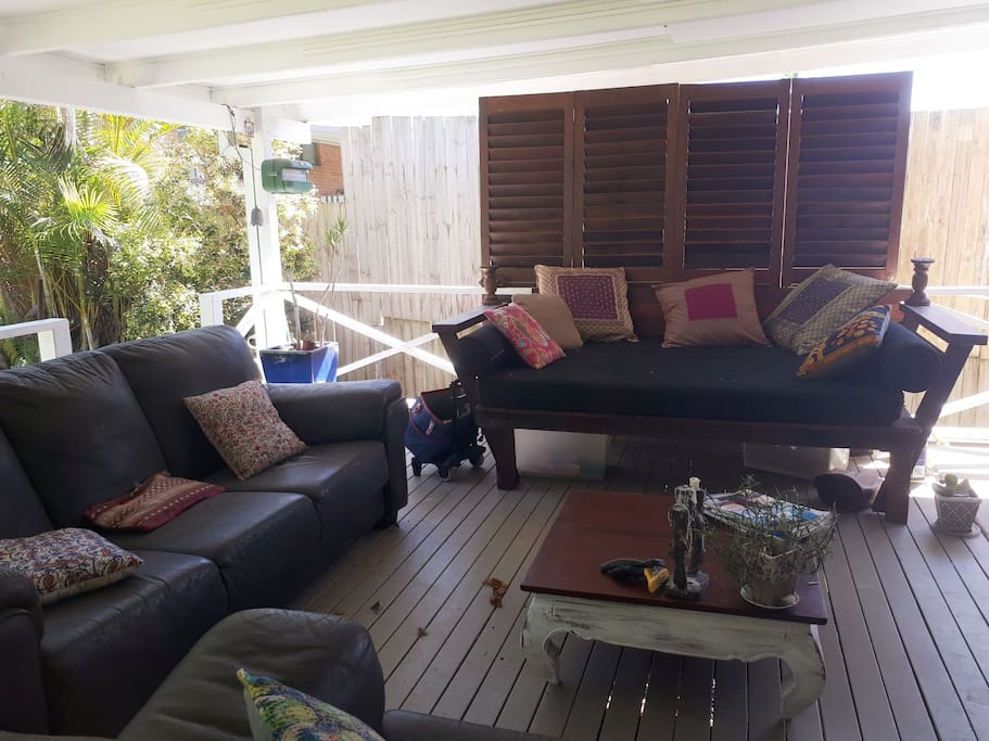 exterior deck relaxing space