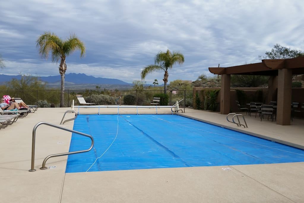 Pool with a view, heated in winter