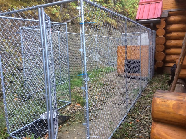 Fenced in area for pets if needed.