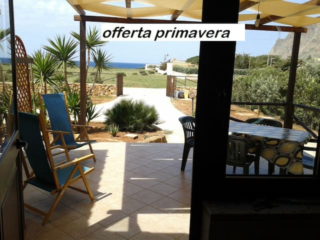 LAST-MINUTE MAY,  with garden and sea view!! - Custonaci - Dom