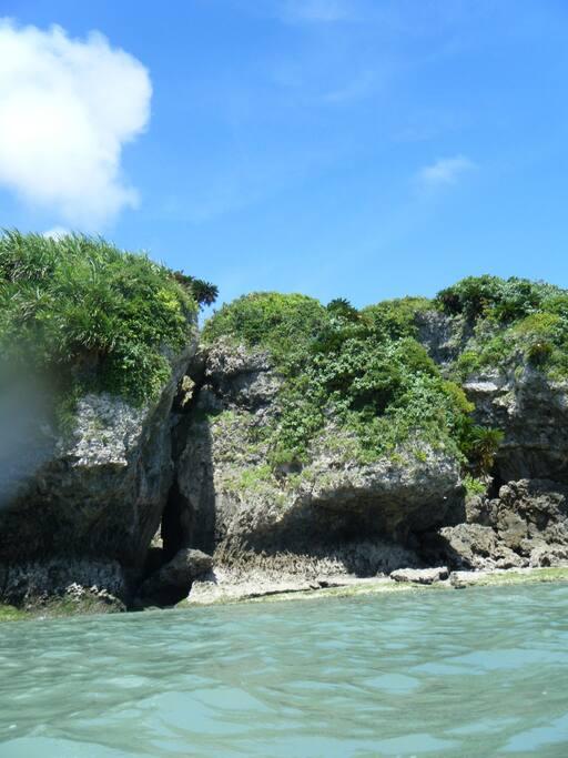 無人島の写真です、とっても神秘的なところです