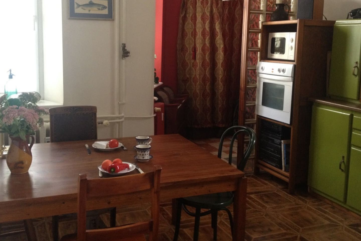 The table is the heart of my  apartment