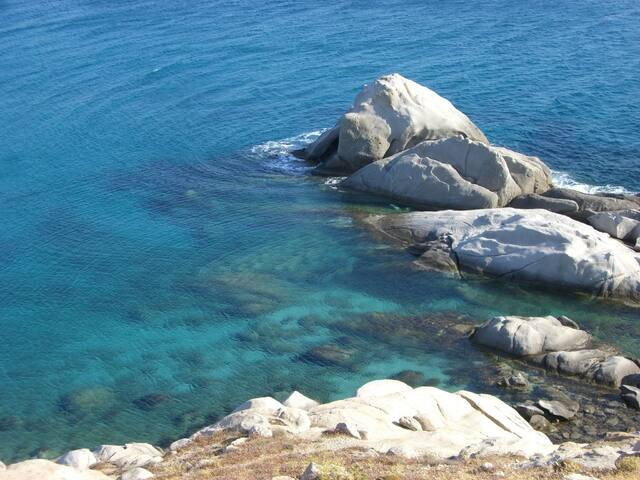 Villa blueberry Naxos -3 bedroom beach front - Mikri Vigla - Vila