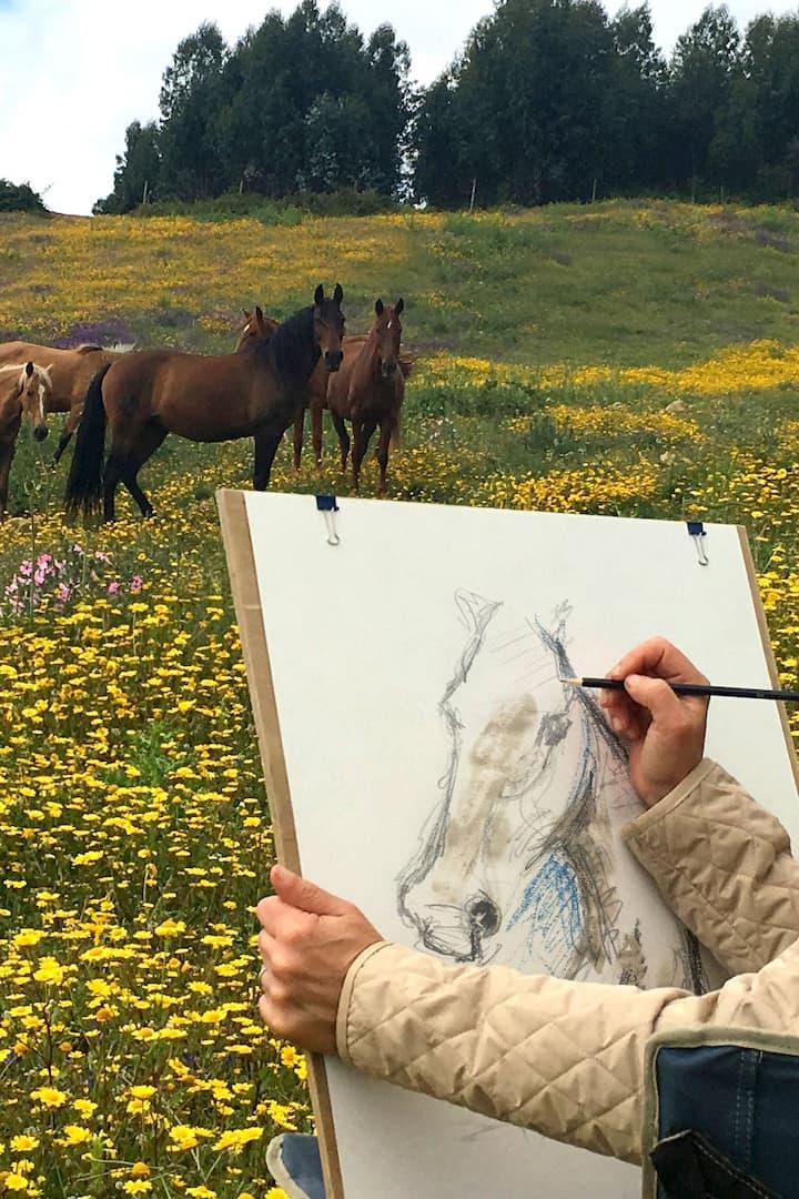 Sketching wild horses