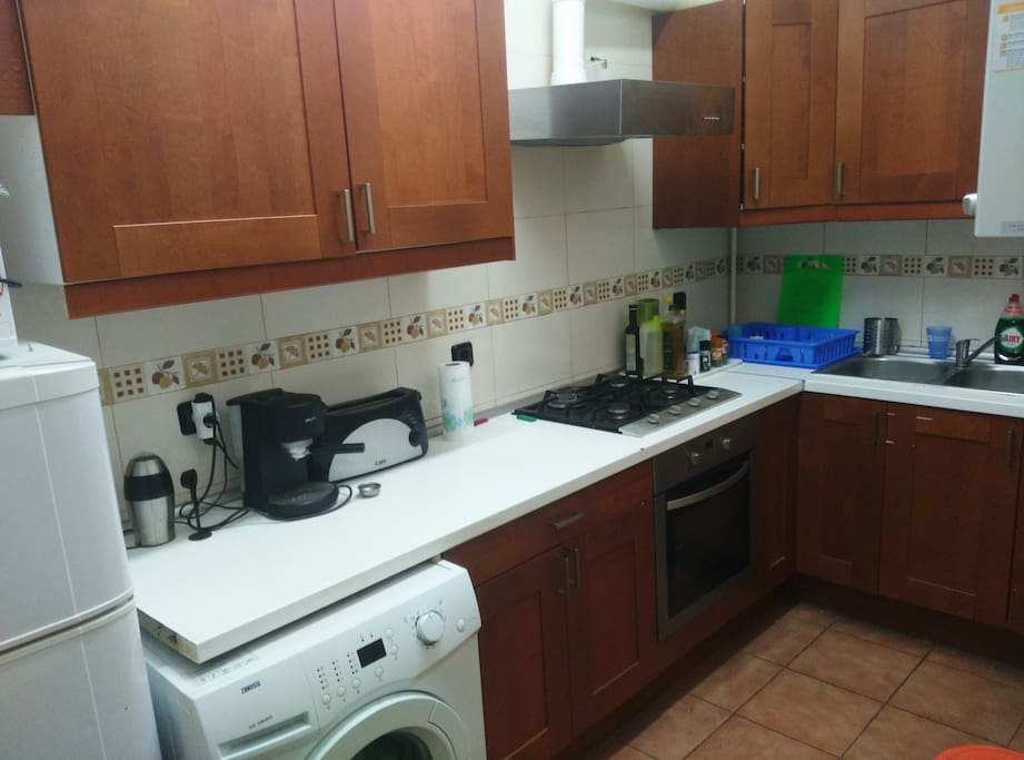 Spacious kitchen with all amenities
