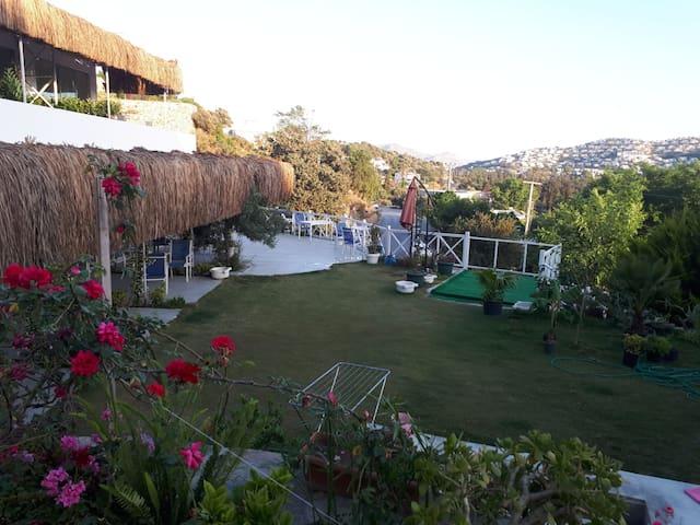panorama gümüşlük, sahile, restoranlara 2 dak.