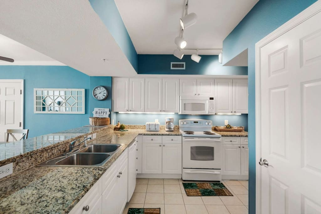 Full Equipped Kitchen with everything you need for your beach vacation!