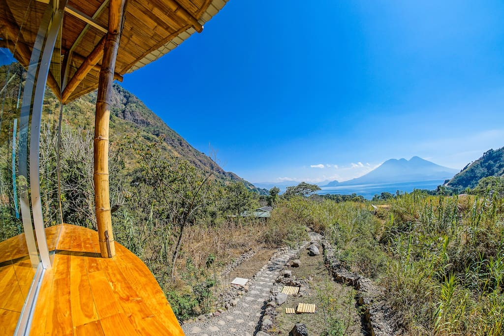 Lake Atitlan view from our Yoga place