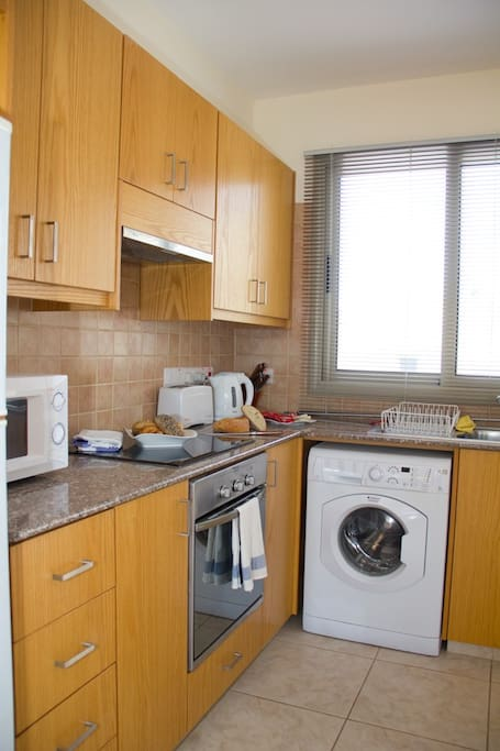 kitchen equipped with modern appliances