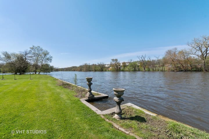Riverfront rental with fun activity