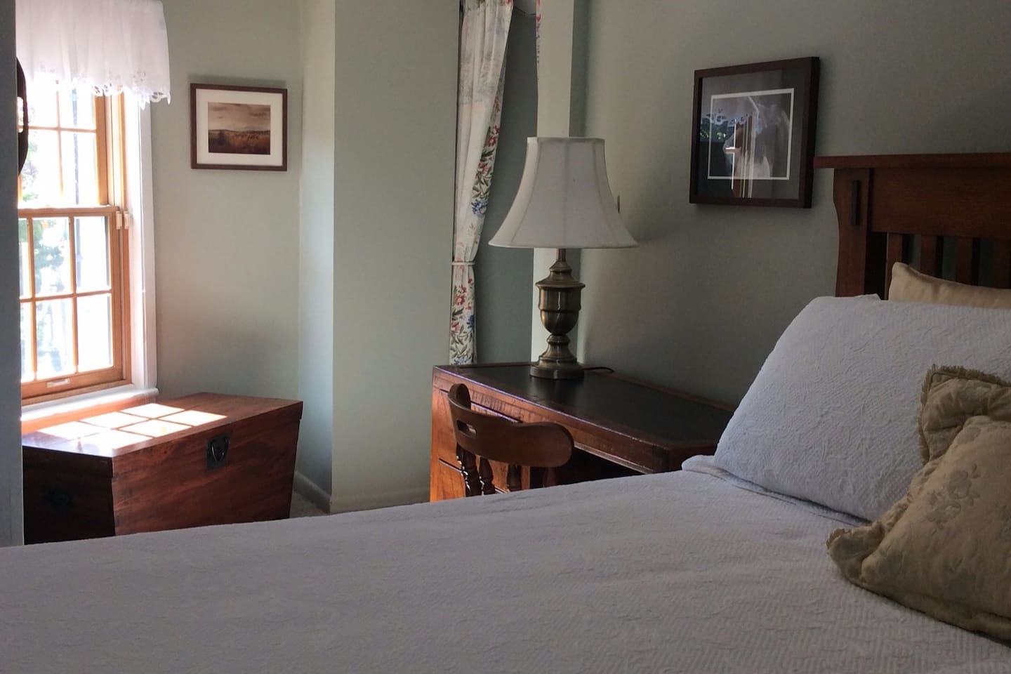 You will feel relaxed, pampered, and a bit as if you are stepping back in time upon entering this secluded boudoir.