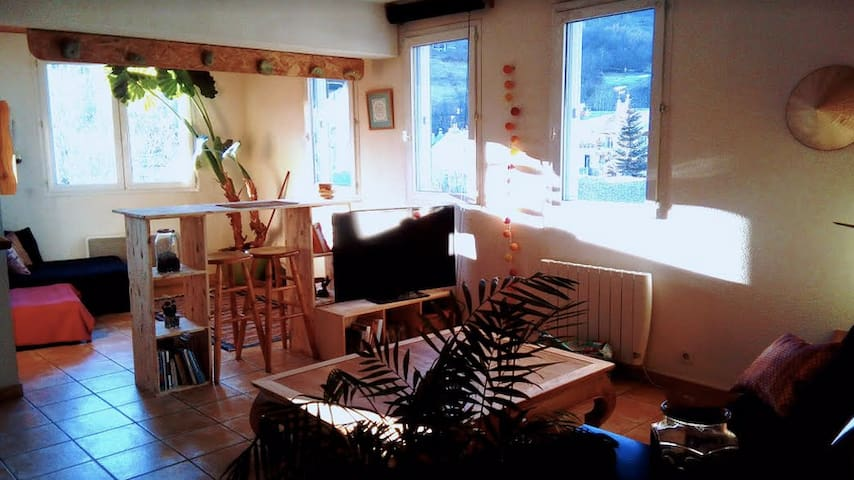 Nice flat, center of the town, feet of the slopes. - Briançon - Apartamento