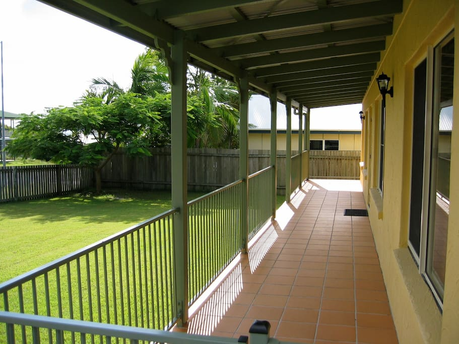Covered verandah's front and back