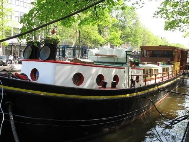Room on a houseboat with own entrance - Ámsterdam - Barco