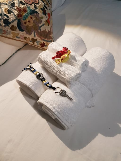 Luxurious towels...