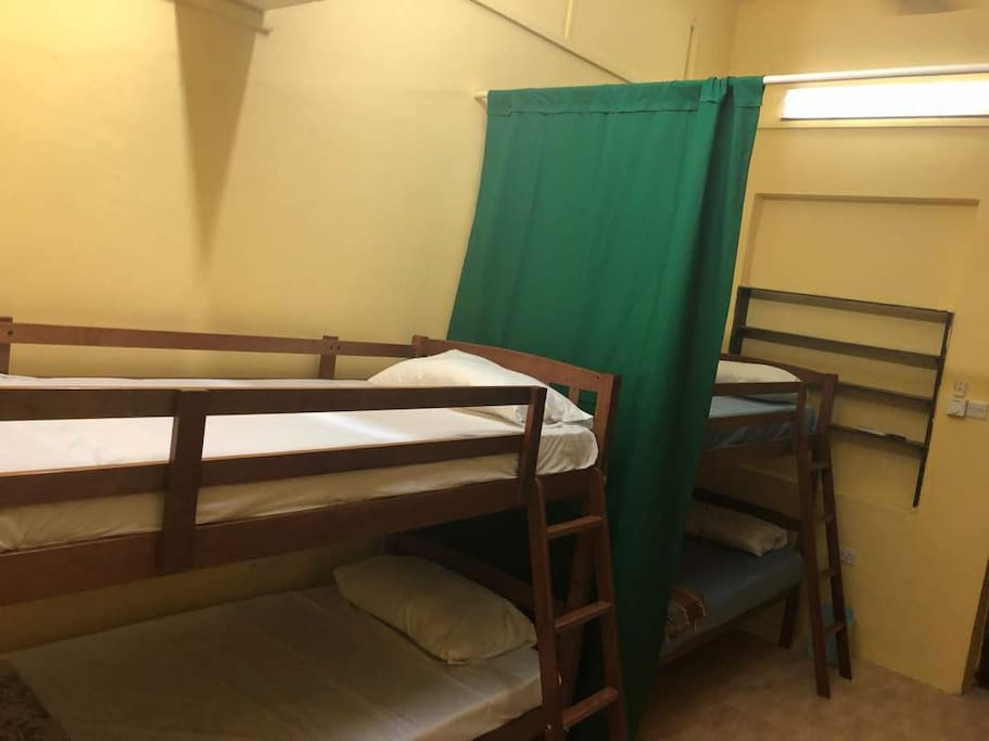 Ex General Ward Room turned into a cozy bedroom with 2 bunk beds