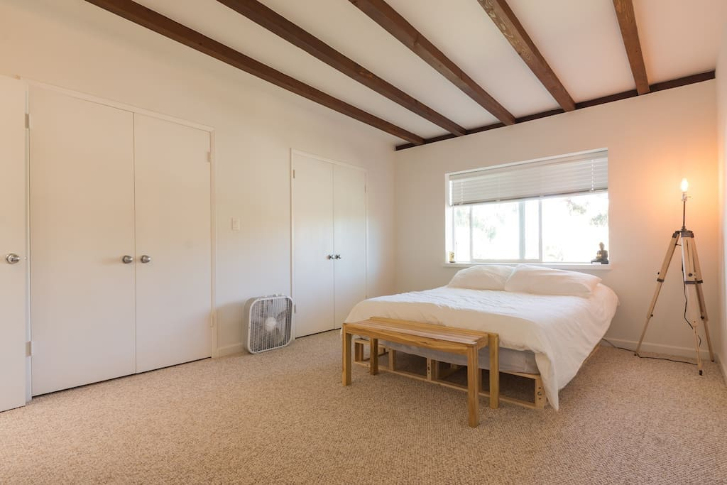 Large spacious Master Bedroom with queen mattress.