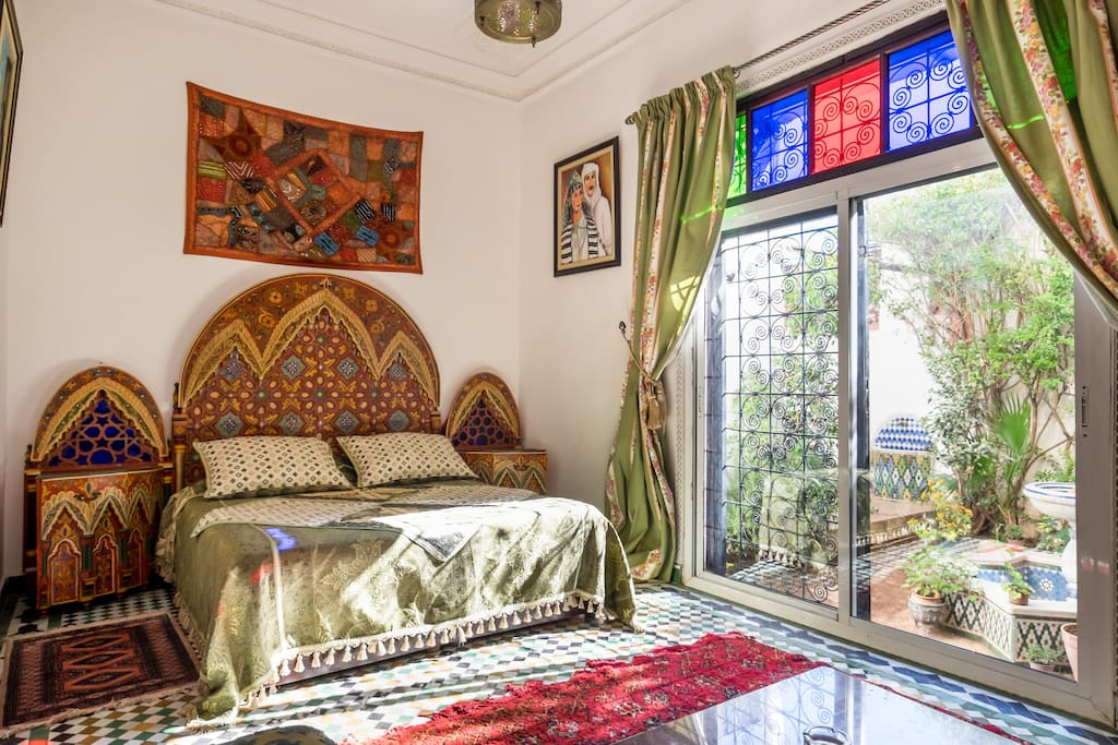 Small riad style apartment with private garden for Airbnb fez