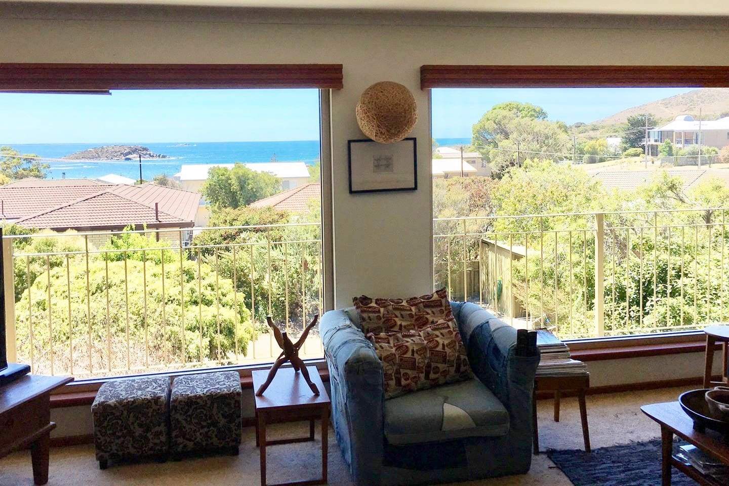 Sea views.......From the cosy lounge room!
