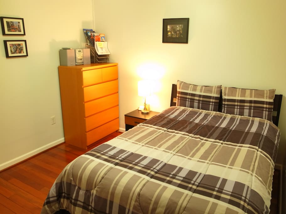 Guest Bedroom with Night Stand