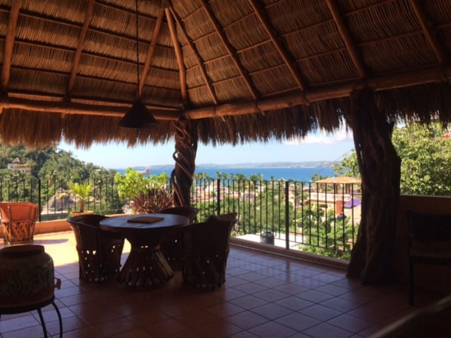 The Palapa level to enjoy the ocean breezes and of course, the hammock.