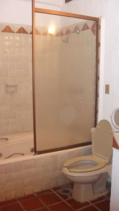 This is the shower inside the bedroom