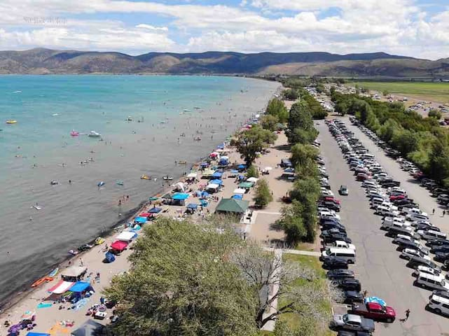 RV Camp at Bear Lake Rendezvous Beach!