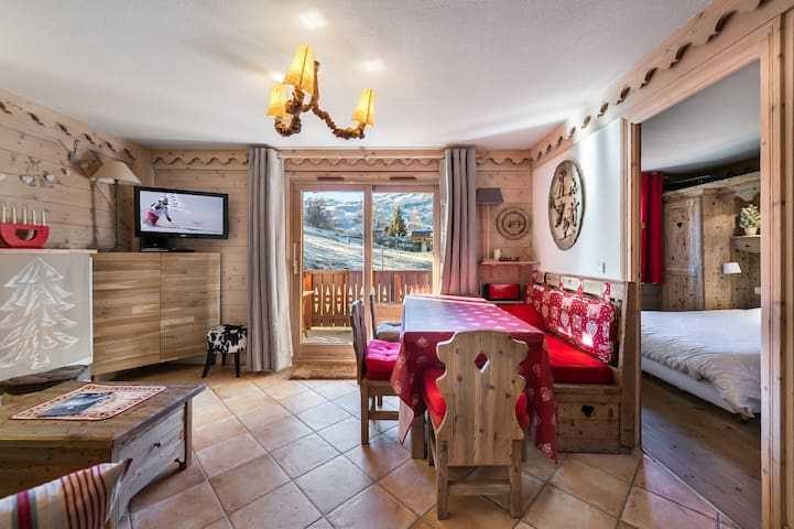 Apartment on the slopes with free access to the pool