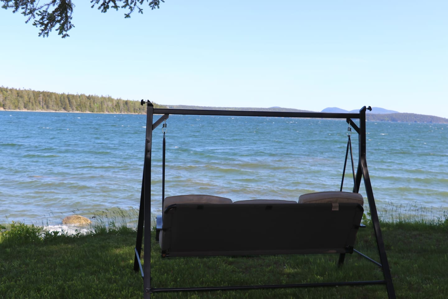Swing and enjoy the ever changing scenery. Low or high tide it is exceptional down here.