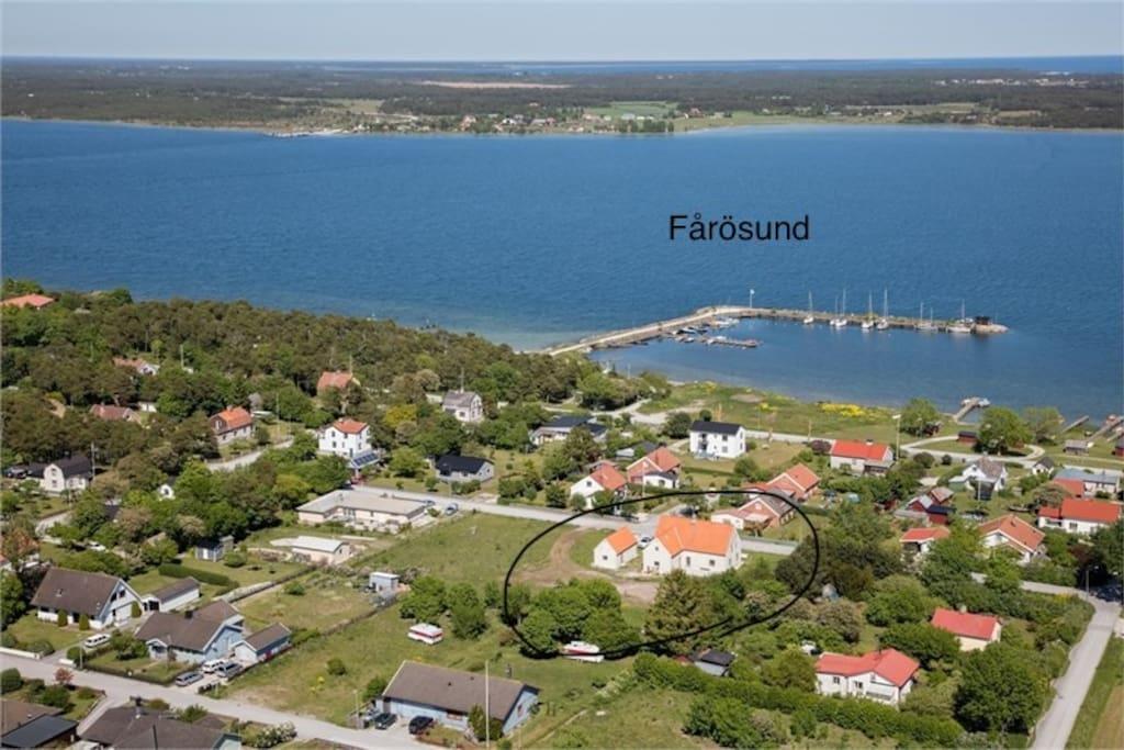 Fårösund with sea views