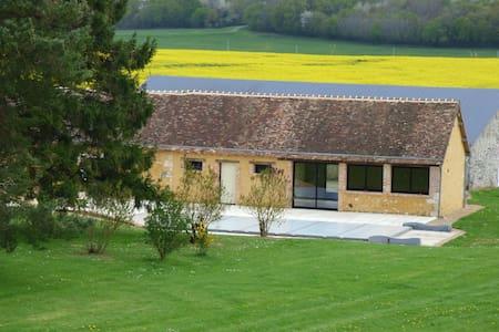 Ferme avec piscine à 40 min du Mans - Origny-le-Roux - Rumah