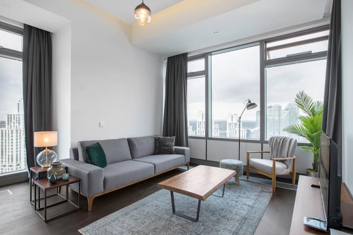 Modern 2BR at 42 Maslak with Pool & City View