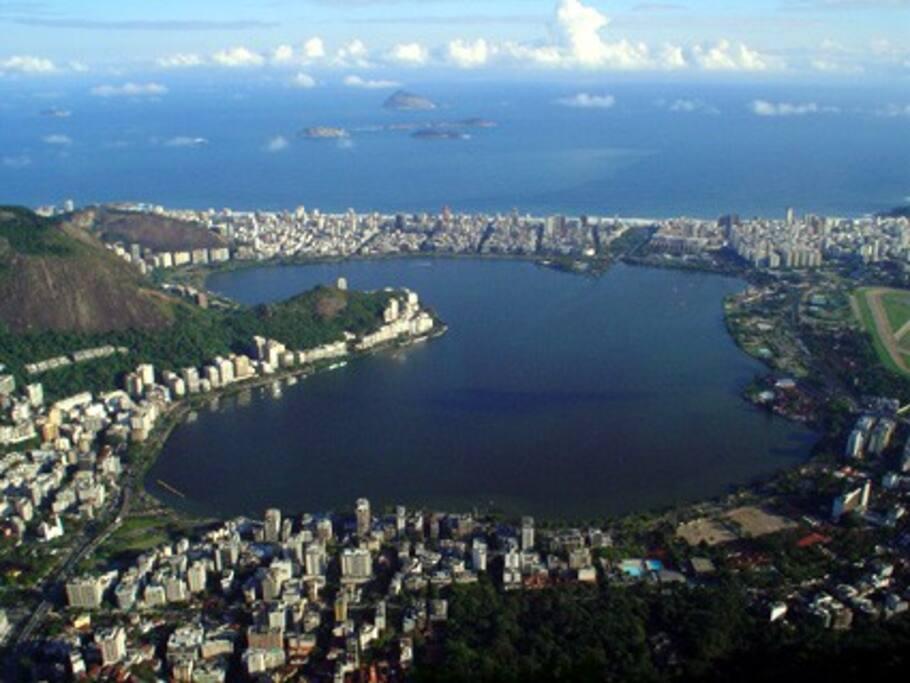 Lagoa Rodrigo de Freitas (vista aérea)