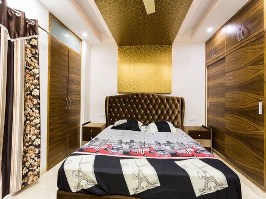 Queen Bedroom with large bed for extra comfort.