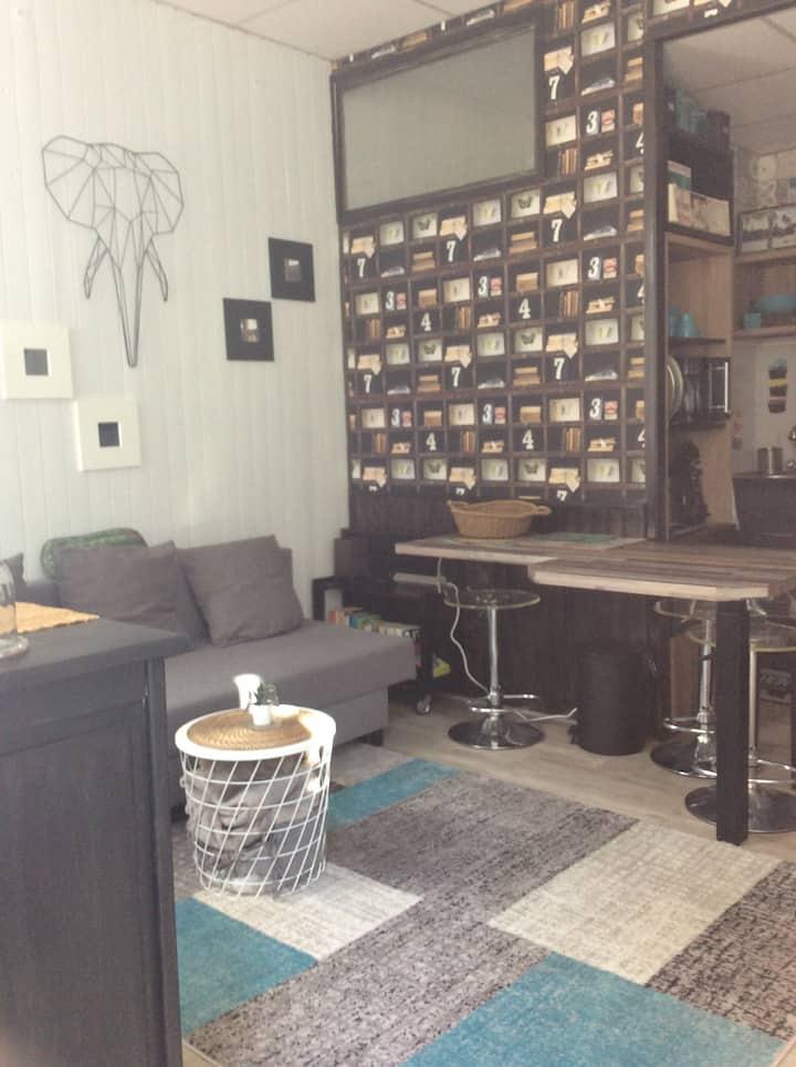 Mignon studio dans le centre/places de parking .