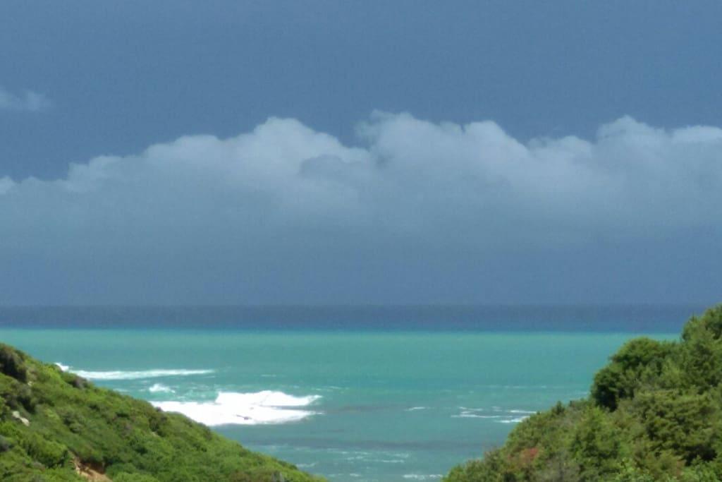 beach view from veranda