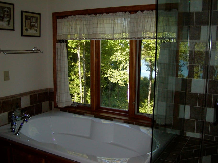 2 person soaking tub glass shower