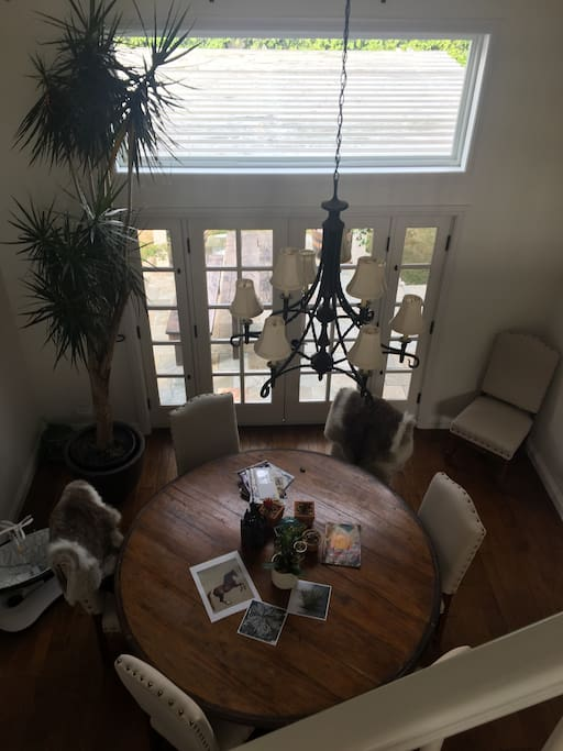 View from dinning room from second floor