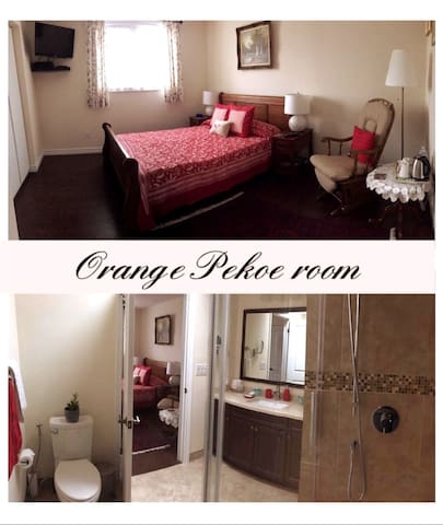 Orange Pekoe room with private and ensuite bath