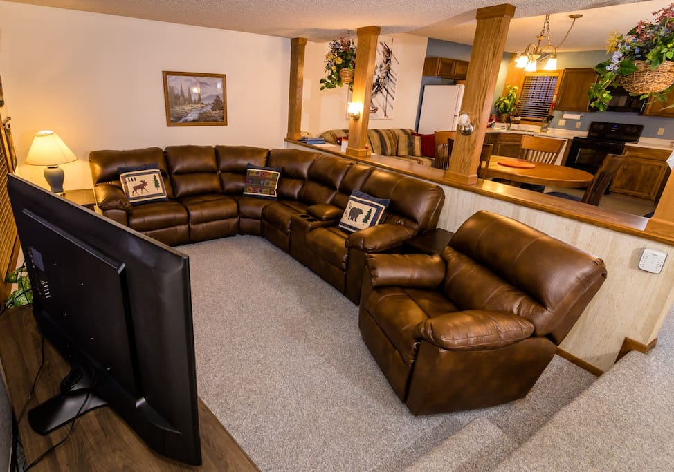 Wonderful living room, recliner, and also couch as recliners!