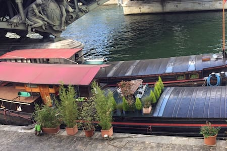Studio on a houseboat next to the Eiffel Tower - Parigi
