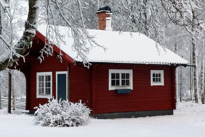 Cosy cottage with sauna, near lake Åsnen