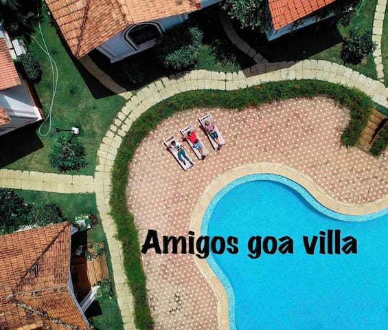 Amigos Goa Villa ❤ 2BHK ❤ Pool ❤ Near Baga beach