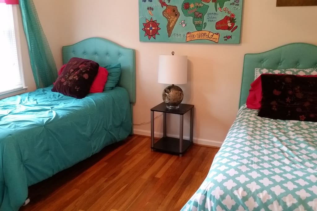 Guest Room #2 with two twin beds