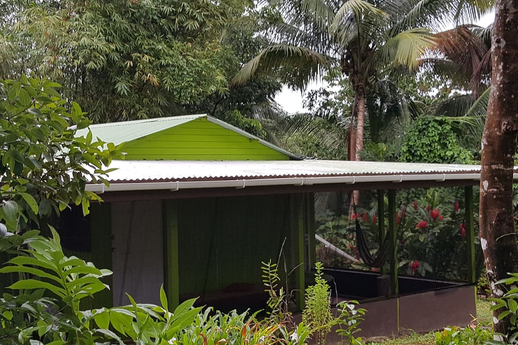 """$45 U.S. + 15% Government VAT. Welcome to """"Lime""""! One bedroom, fully screened for your comfort and peace of mind, fully equipped.  Bedding: 1 Queen Hammock, Massage Table, Yoga Mats. Visit this listing on AirBNB."""
