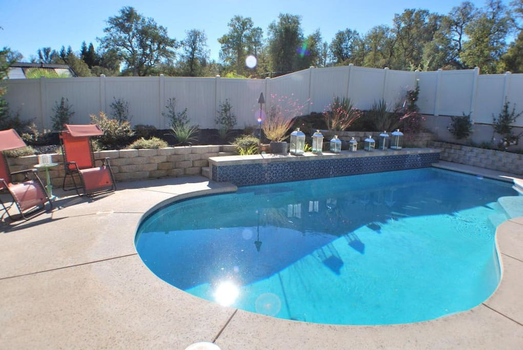 Pool backing to greenbelt