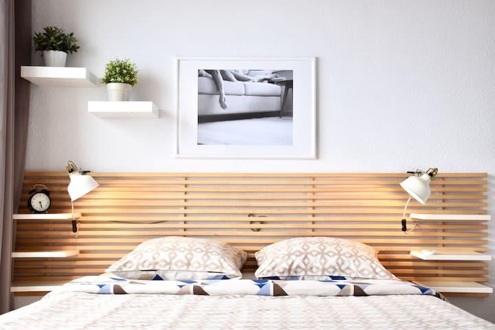 Kingsize bed/ Уютная двухспальная кровать.